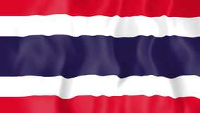Bandiera animata della Tailandia illustrazione vettoriale