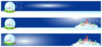 Bandiera anno di nuovo e di natale illustrazione di stock