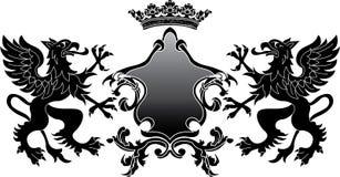 Bandiera araldica del grifone Immagini Stock