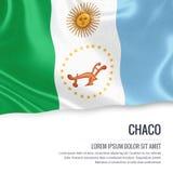 Bandiera argentina del Chaco dello stato Fotografie Stock