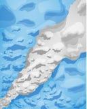 Bandiera argentina delle nuvole di fumo, illustrazione di vettore illustrazione vettoriale