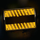 Bandiera arrugginita del grunge Fotografia Stock