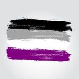 Bandiera asessuale di orgoglio sotto forma del colpo della spazzola Immagine Stock