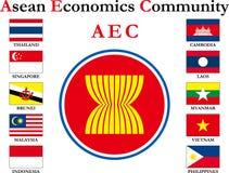 Bandiera asiatica Immagine Stock Libera da Diritti