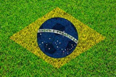 Bandiera astratta creativa del Brasile Fotografia Stock