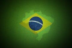 Bandiera astratta creativa del Brasile Immagini Stock