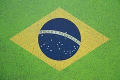 Bandiera astratta creativa del Brasile Immagine Stock