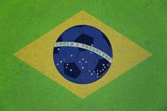 Bandiera astratta creativa del Brasile Fotografie Stock Libere da Diritti