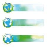 Bandiera astratta di ecologia Immagine Stock Libera da Diritti