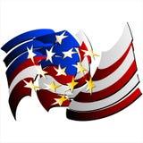 Bandiera astratta Stati Uniti. (Vettore) Fotografie Stock Libere da Diritti