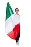 Bandiera attraente di manifestazioni della donna dell'Italia Immagine Stock