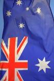 Bandiera australiana d'ondeggiamento Immagini Stock Libere da Diritti