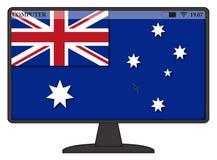 Bandiera australiana del computer Fotografie Stock