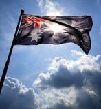 Bandiera australiana retroilluminata Immagini Stock
