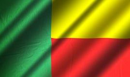 Bandiera autentica del Benin Immagini Stock Libere da Diritti