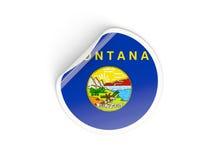 Bandiera autoadesivo rotondo del Montana, stato USA Immagini Stock Libere da Diritti