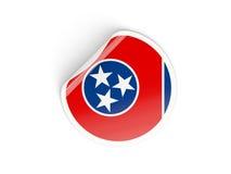 Bandiera autoadesivo rotondo del Tennessee, stato USA Fotografia Stock Libera da Diritti