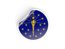 Bandiera autoadesivo rotondo dell'Indiana, stato USA Immagine Stock Libera da Diritti