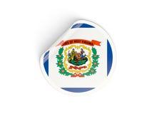 Bandiera autoadesivo rotondo della Virginia dell'Ovest, stato USA Immagine Stock Libera da Diritti