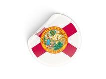 Bandiera autoadesivo rotondo di Florida, stato USA Immagine Stock