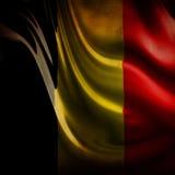 Bandiera belga consumata Fotografia Stock