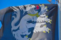 Bandiera belga del leone Fotografia Stock Libera da Diritti
