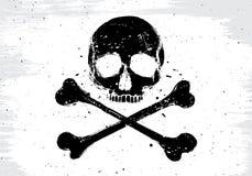 Bandiera bianca del pirata illustrazione vettoriale