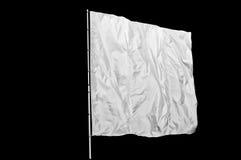 Bandiera bianca isolata Fotografia Stock Libera da Diritti