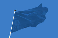 Bandiera blu Fotografia Stock