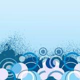 Bandiera blu alla moda Fotografia Stock Libera da Diritti