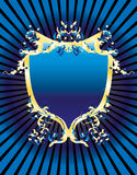 Bandiera blu dell'annata Fotografia Stock Libera da Diritti