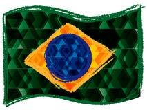 Bandiera brasiliana Immagini Stock