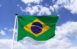 Bandiera brasiliana: composto di base verde illustrazione vettoriale