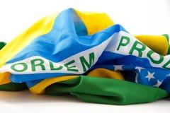 Bandiera brasiliana seconda Fotografia Stock Libera da Diritti