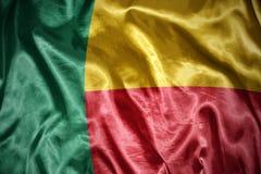 bandiera brillante del Benin Fotografie Stock