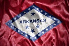 bandiera brillante dello stato dell'Arkansas Immagini Stock Libere da Diritti
