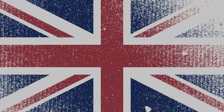 Bandiera BRITANNICA afflitta Fotografie Stock Libere da Diritti