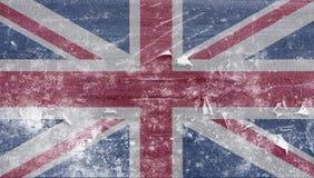 Bandiera britannica congelata Immagini Stock