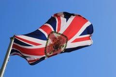 Bandiera britannica dell'ambasciata Fotografia Stock Libera da Diritti