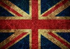 Bandiera BRITANNICA di Bling Fotografie Stock Libere da Diritti