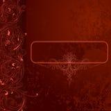 bandiera Brown-rossa della priorità bassa del merletto di Grunge Fotografie Stock