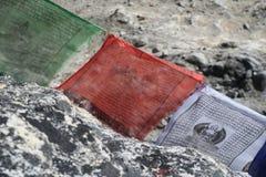 Bandiera buddista di preghiera Fotografia Stock
