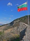 Bandiera bulgara nel giorno ventoso immagine stock libera da diritti