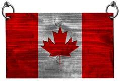 Bandiera canadese con il percorso di ritaglio Immagine Stock Libera da Diritti