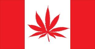 Bandiera canadese della foglia Fotografia Stock