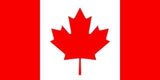 Bandiera canadese, disposizione piana, illustrazione Immagine Stock