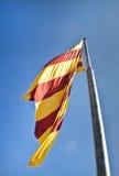 Bandiera catalana Fotografia Stock