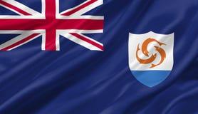 Bandiera che ondeggia con il vento, di Anguilla illustrazione 3D Fotografia Stock Libera da Diritti