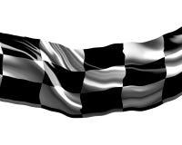 Bandiera Checkered Fotografia Stock