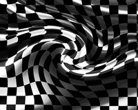 Bandiera Checkered Fotografie Stock